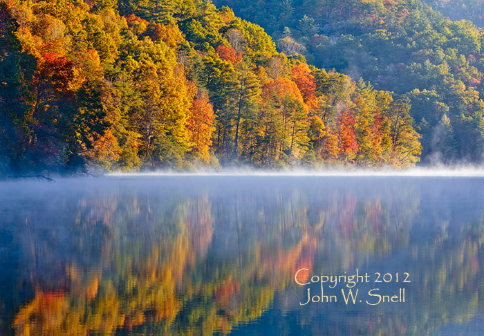 Autumn Mist at Mill Creek Lake