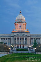 Ky Capitol at Dusk