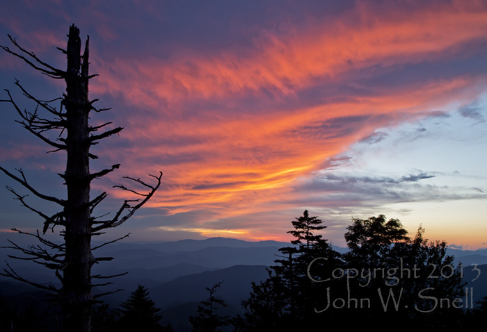 Sunset at Waterrock Knob